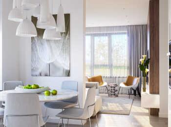 Пример интерьера в 3-комнатной квартире
